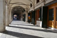 Panoramic view to the Grand canal city life in a sunny spring day. royalty free stock photo