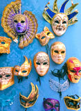 Venice, Italy - May 10, 2014: Venetian carnival masks, souvenir shop on a street Stock Images