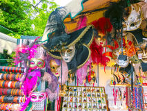 Venice, Italy - May 10, 2014: Venetian carnival masks, souvenir shop on a street Royalty Free Stock Photography