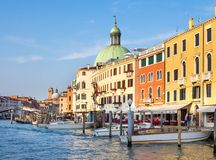 Venice, Italy - 19 May 2105: View of the Grand Canal, and buildi Stock Image