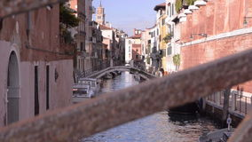 Venice Italy, narrow channel stock video footage