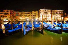 Venice Italy By Night Royalty Free Stock Photo