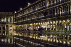 Venice in Italy at night. Stock Images