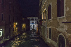 Venice in Italy at night Royalty Free Stock Image