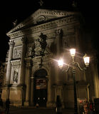 Venice, Italy, nocturnal view of San Stae church from Grand Cana Royalty Free Stock Photo