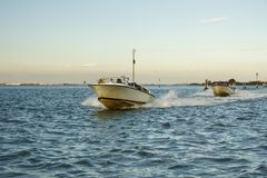 Water taxi commuting in Venice, Italy, 2016 Royalty Free Stock Photography