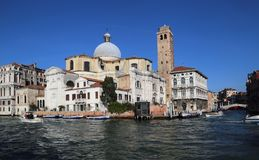 San Geremia church on the Grand Canal in Venice, Italy stock image
