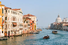 VENICE, ITALY - OCTOBER 26 : View down the Grand Canal in Venice Royalty Free Stock Photography