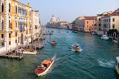 VENICE, ITALY - OCTOBER 26 : View down the Grand Canal in Venice Stock Image