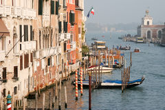 VENICE, ITALY - OCTOBER 26 : View down the Grand Canal in Venice Stock Photos