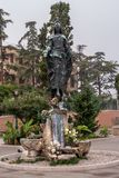 Venice, Italy - October 13, 2017: Virgin Mary Statue Immaculate at the railway station of Venice. Immaculata Virgo. It is located near the Grande Canal. At the royalty free stock photos