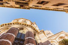 VENICE, ITALY - OKTOBER 27, 2016: Detail of Basilica dei Santi Giovanni e Paolo, One of the largest churches in the city with. VENICE, ITALY - OKTOBER 27, 2016 royalty free stock photos