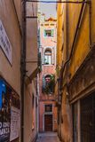 VENICE, ITALY - OKTOBER 27, 2016: People on the street in Venice, Italy. Europe stock photography