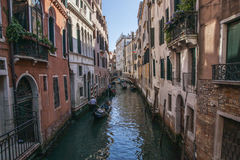 Venice, Italy - old buildings and a canal. Stock Photos