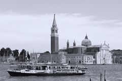 Old buildings in Venice, Italy, View over the canal royalty free stock photo