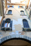 Venice, Italy. Old houses in the water city Royalty Free Stock Photos
