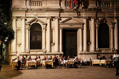 Venice, Italy open air dinner in summer Royalty Free Stock Photo