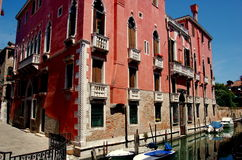 Venice, Italy: Palazzo on Canal Royalty Free Stock Images