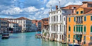 Venice Italy, panorama of the Grand Canal stock photo