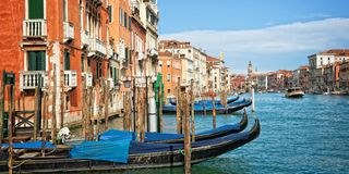 Venice Italy, panorama of the grand canal. Venice in Italy, panorama of the grand canal Stock Image