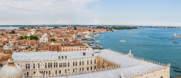 Venice, Italy - panoramic view from St Mark's Campanile Stock Photo