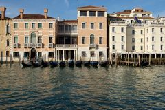 Venice, Italy. Panoramic view of Venice, Grand Canal. Venice street, view of Venice canal. Venice, Italy Stock Photography