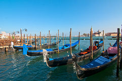 Venice Italy pittoresque view of gondolas Stock Photos