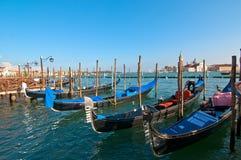 Venice Italy pittoresque view of gondolas Stock Photos