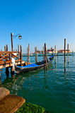 Venice Italy pittoresque view of gondolas Royalty Free Stock Image