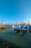 Venice Italy pittoresque view of gondolas Royalty Free Stock Photography