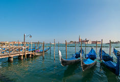 Venice Italy pittoresque view of gondolas Stock Image