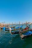 Venice Italy pittoresque view of gondolas Royalty Free Stock Image