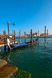 Venice Italy pittoresque view of gondolas Royalty Free Stock Photos