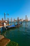 Venice Italy pittoresque view of gondolas Royalty Free Stock Photos