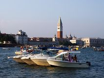 VENICE, ITALY - 07/18/2015: Preparations for the Festival of the Redeemer Stock Images