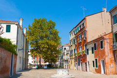 Venice.Italy. Real street and square in Venice Stock Photography