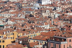 Venice, Italy, red-tile roofs and many houses Royalty Free Stock Images