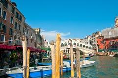 Venice Italy Rialto bridge view Royalty Free Stock Photography