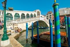 Venice Italy Rialto bridge view Royalty Free Stock Photos