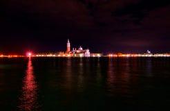 Venice Italy Saint George island by night Stock Photos