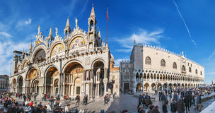 Venice, Italy. Saint Mark's Basilica and Doge's Palace Royalty Free Stock Image