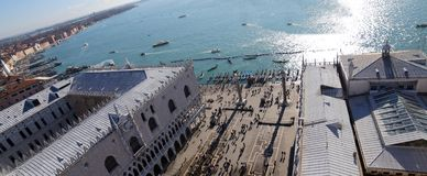 Venice Italy Saint Mark square and the ducal Palace Stock Photography