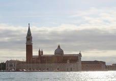 Venice, Italy. San Giorgio Maggiore. At sunset stock images