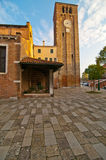 Venice Italy San Nicolo dei mendicoli church Stock Photography
