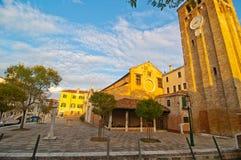 Venice Italy San Nicolo dei mendicoli church Stock Photos