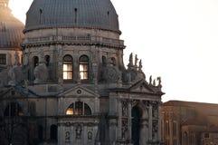 Venice, Italy. The Santa Maria della Salute Church in Venice, Italy, during sunset Royalty Free Stock Photos