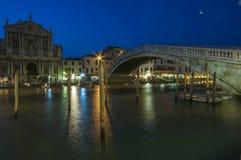 VENICE/ITALY   Scalzi Bridge at Night Royalty Free Stock Images