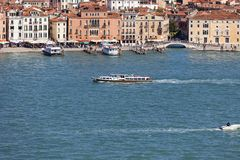Aerial view of the city, coastal boulevard, water transport, Venice, Italy Stock Photo