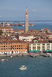Aerial view of the city, coastal boulevard, water transport, Vence, Italy Stock Images