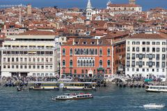Aerial view of the city, coastal boulevards, water transport, Venice, Italy Stock Photography